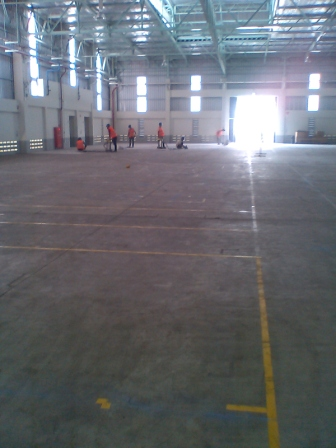 Sebelum di Floor Coating